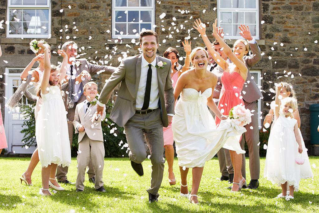 pure Freude nach der Hochzeit